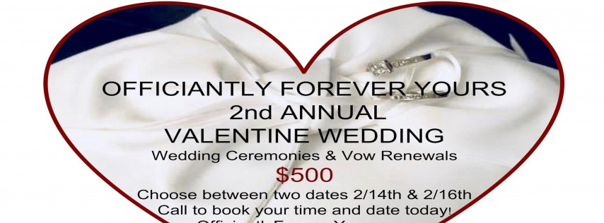Officiantly Forever Yours Valentine Wedding