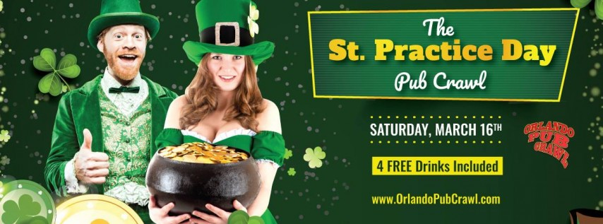 The St. Practice Day Pub Crawl Orlando