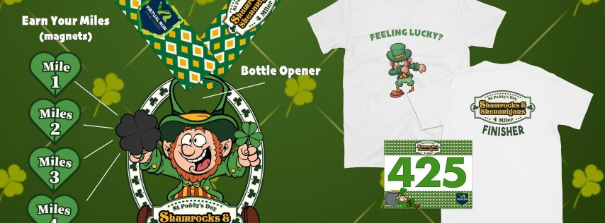 Shamrocks & Shenanigans Virtual 4 Mile Run/Walk - San Francisco