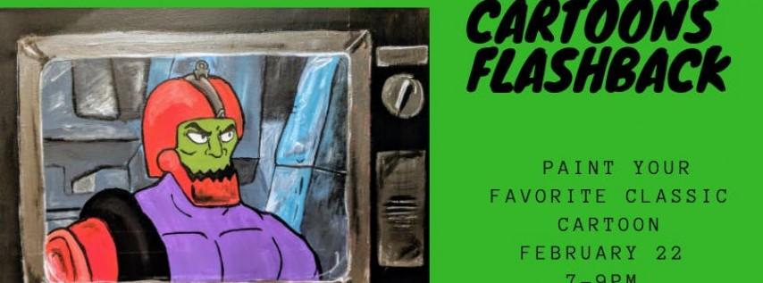 Cartoons Flashback Paint Party