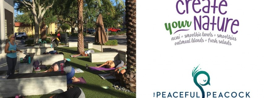 Yoga on Lawn with Peaceful Peacock Orlando