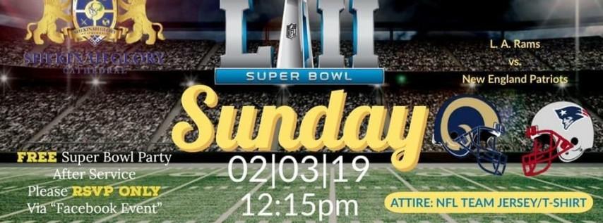 Super Bowl Party & Fellowship