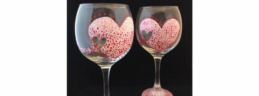 Paint Nite 'Valentine Heart Wine Glasses'-Becker Farms 2/15