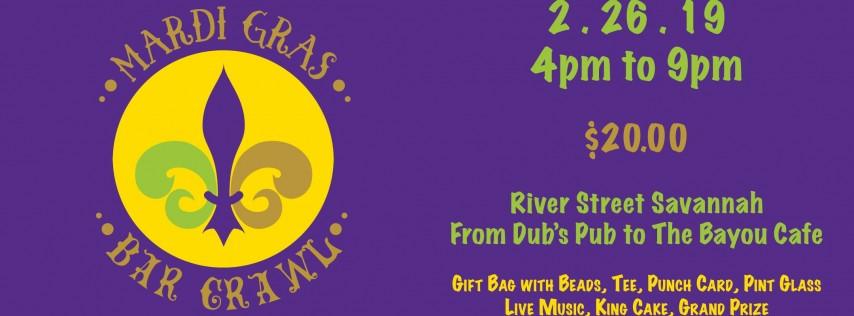 2nd Annual Mardi Gras River Street Bar Crawl