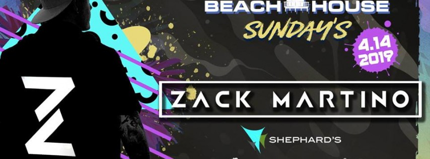 Zack Martino at Beach House Sunday's