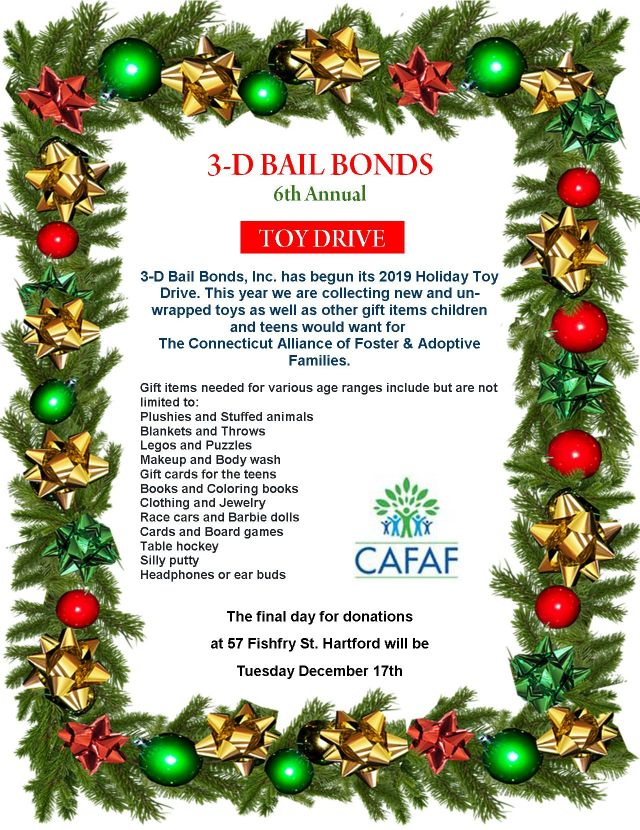 3-D Bail Bonds 6th Annual Holiday Toy Drive