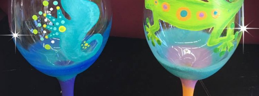 Wine Glass Painting at Mellow!