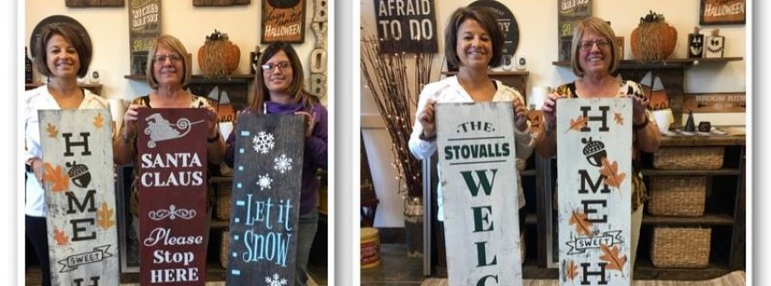 Double Sided Sign! Specialty Class-Limited Seats