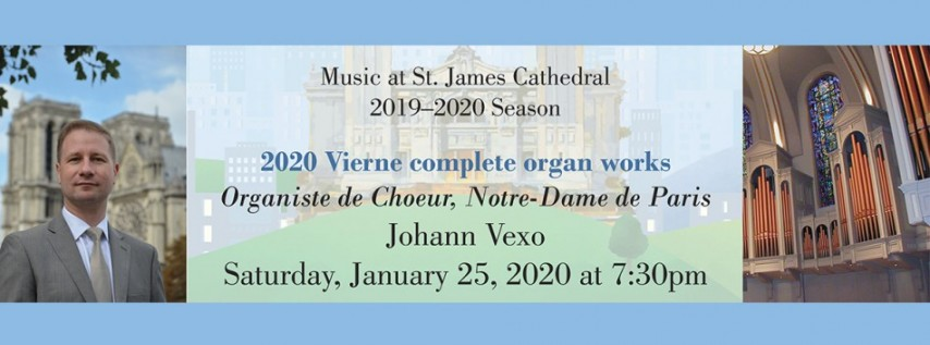 Johann Vexo, Notre-Dame Cathedral Organist