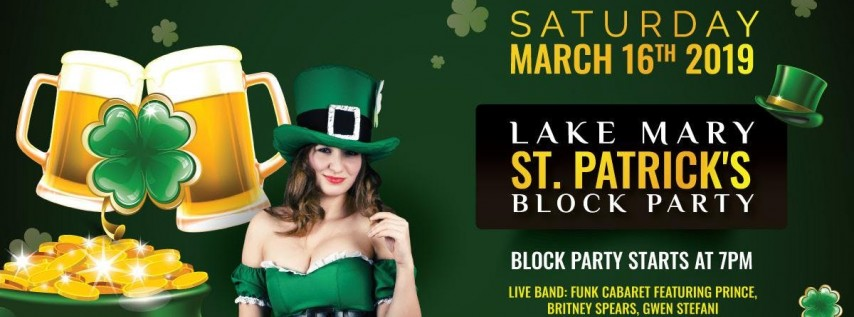 Lake Mary St. Patrick's Block Party: SATURDAY