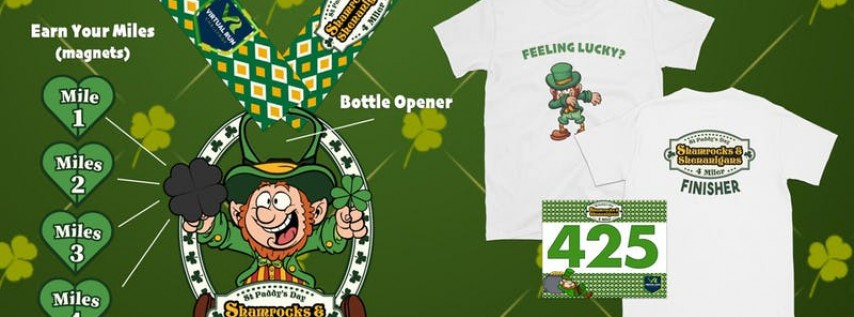 Shamrocks & Shenanigans Virtual 4 Mile Run/Walk - St Petersburg