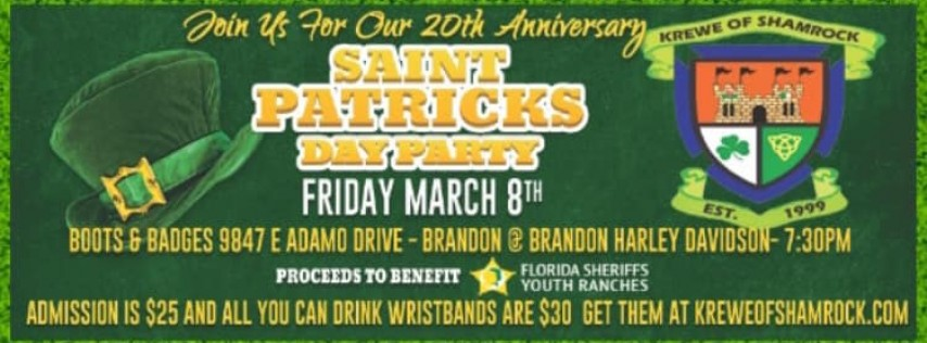 SHAMROCK's 20th Anniversary St. Patrick's Day PARTY