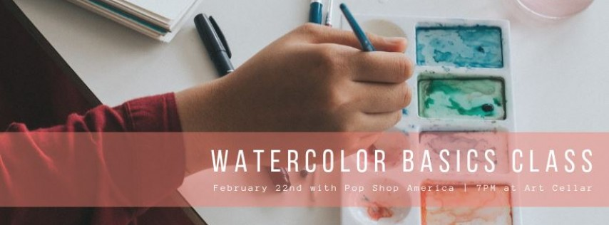 Watercolor Basics + Wax Resists Art Class