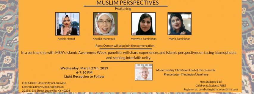 Combating Hate with Peace: Muslim Perspectives