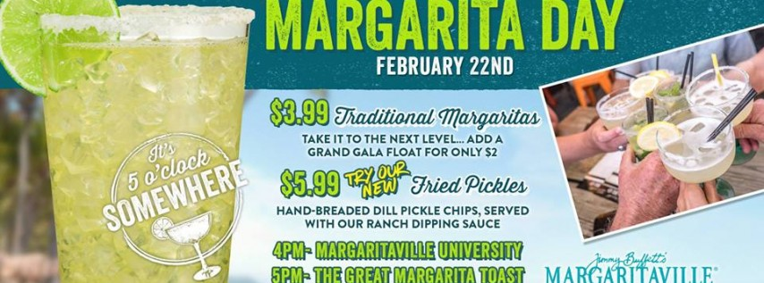 National Margarita Day at Margaritaville Destin