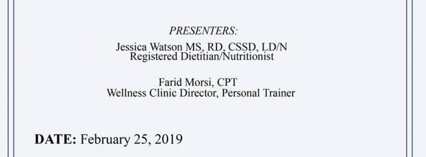 2019 Youth & Family Education Series - Class 1: Nutrition Timing