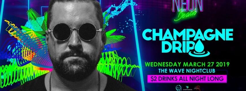Champagne Drip Neon beach Wednesday's