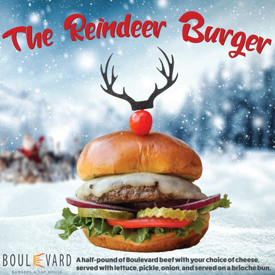 Shout it Out With Glee! Yippie! The Reindeer Burger is Coming to Town