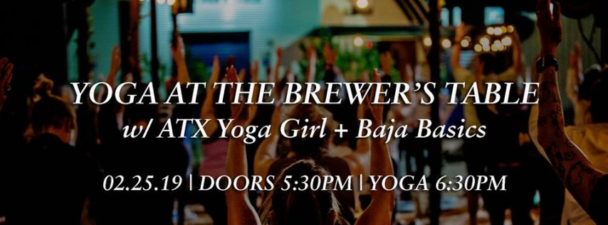 Reset Monday: Yoga at The Brewer's Table!