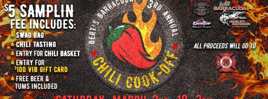 Bert's 3rd Annual Chili Cook-Off