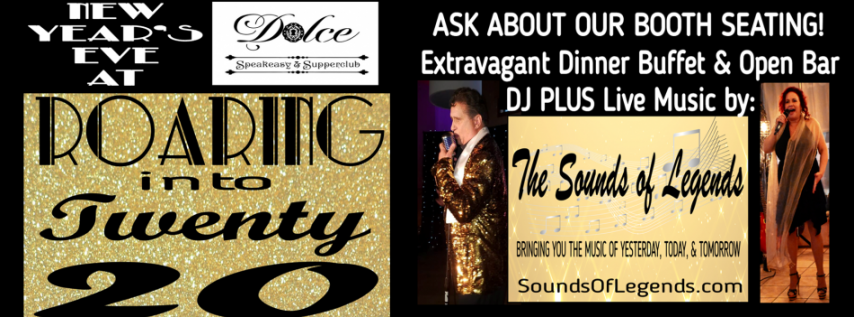 New Year's Eve at Dolce Speakeasy: Roaring into Twenty 20
