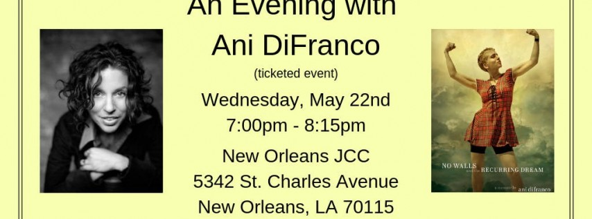 An Evening With Ani DiFranco at the Jewish Community Center