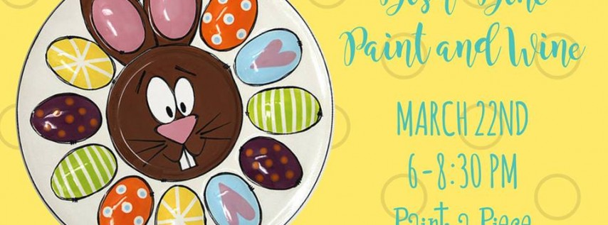 Dish, Dine, Paint & Wine Easter Bunny Egg Plate