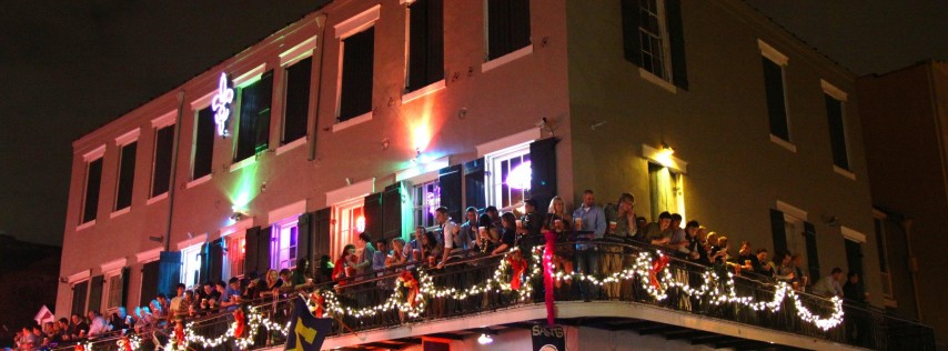 St. Patricks Day Parade Viewing Balcony Tickets on Bourbon Street