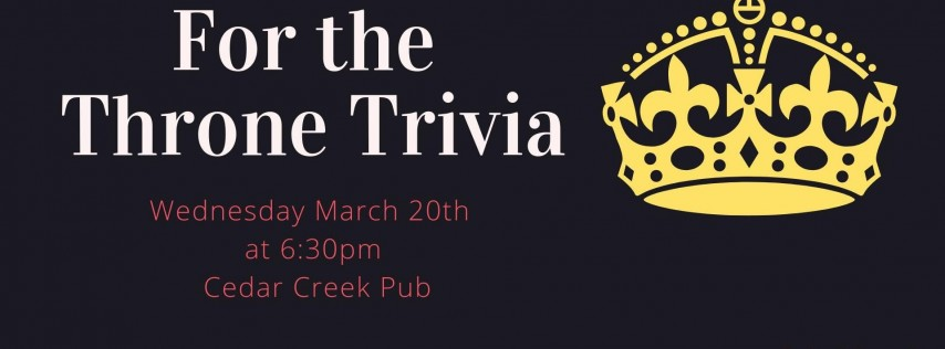 For the Throne Trivia