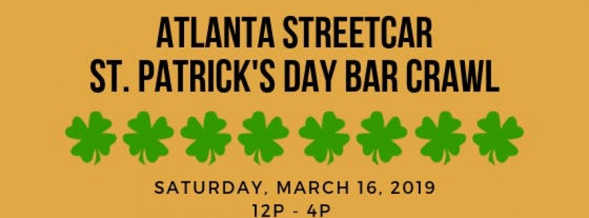 2019 Downtown Atlanta St. Patrick's Day Bar Crawl
