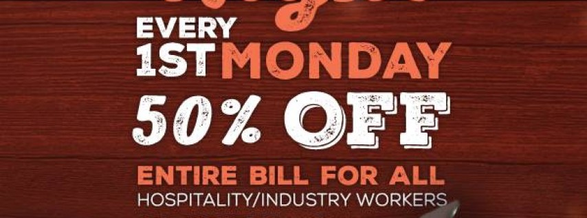 1st Monday! For Hospitality/Industry Workers