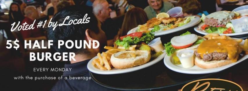 $5 Half Pound Burger