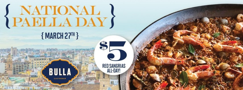 National Paella Day at Bulla Gastrobar - Doral