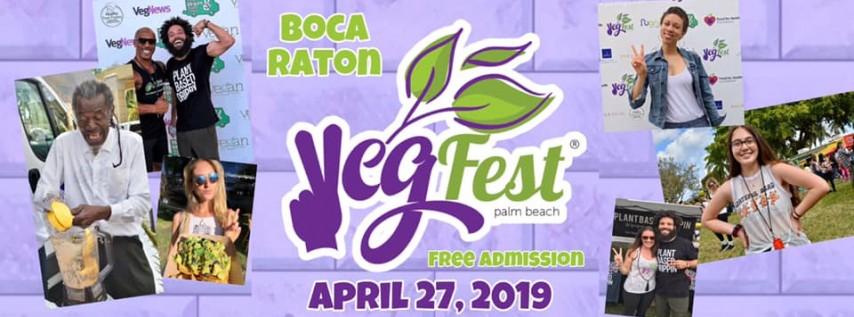 Palm Beach VegFest at the Mizner Park Amphitheater 4/27/19