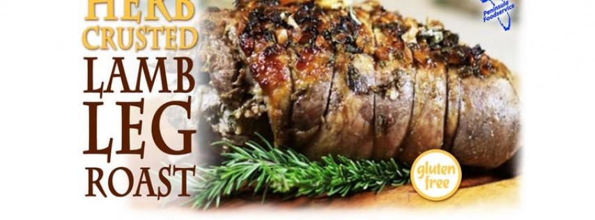 Free Cooking Class: Herb-Crusted Lamb Leg Roast