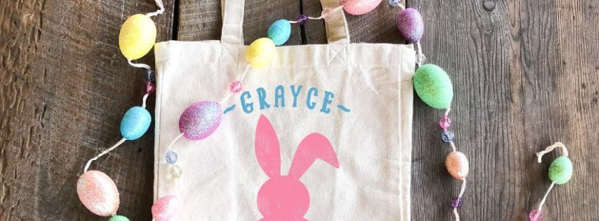 Easter Totes and Mini Wood Signs Workshop - Family Friendly $15