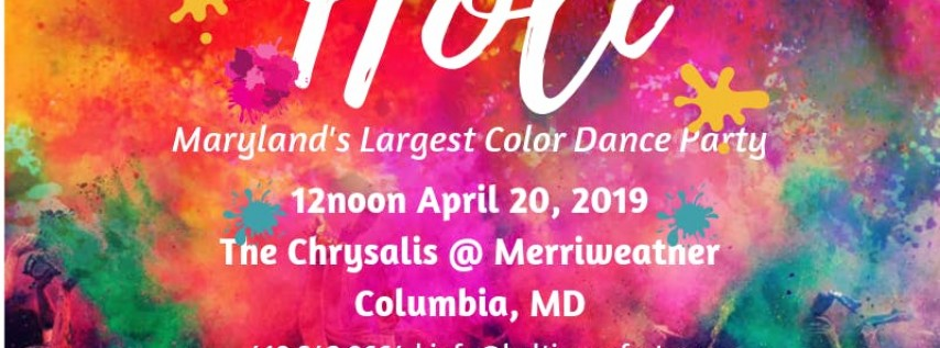 Baltimore Holi - Holi For All - Festival of Colors