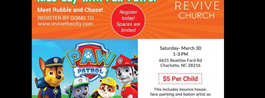 Kid's Day with Paw Patrol - Join Us!