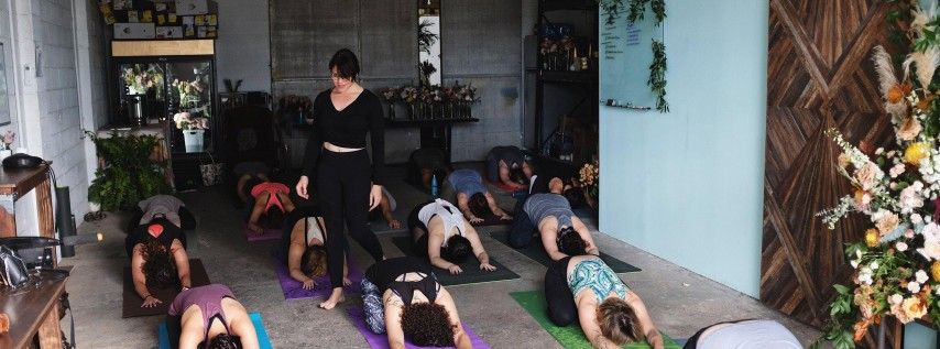 Finding Balance Yoga Flow at Antigua Floral Studio