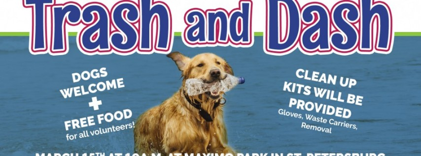Trash and Dash Community Clean Up +dogs
