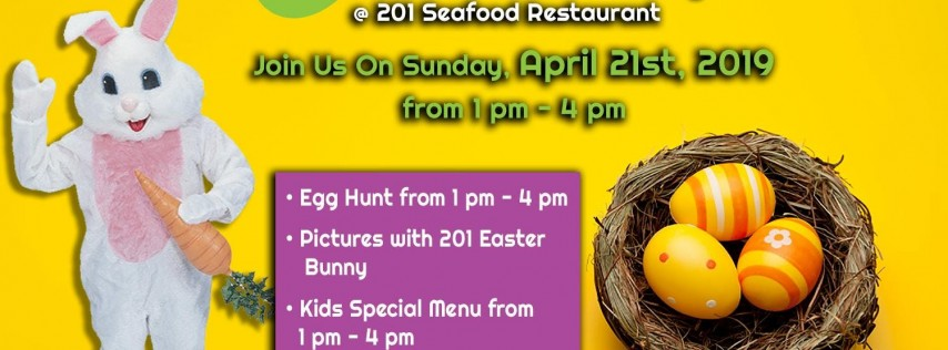 Easter Egg Hunt at 201 Seafood Restaurant