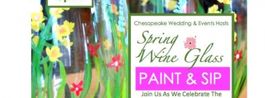 Spring Wine Glass Sip & Paint