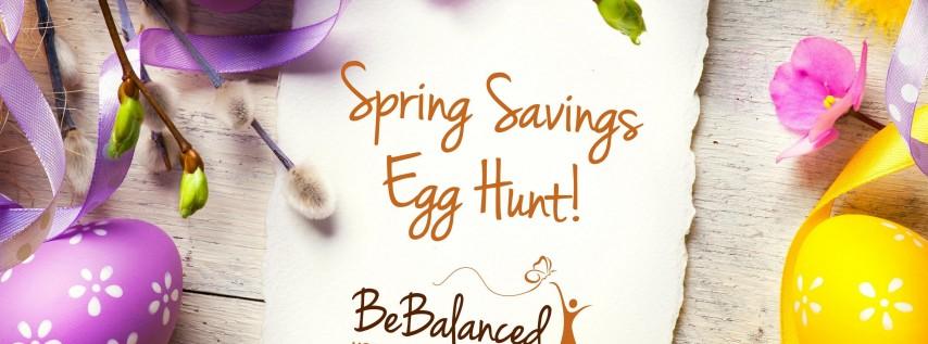 BeBalanced Spring Savings Egg Hunt!
