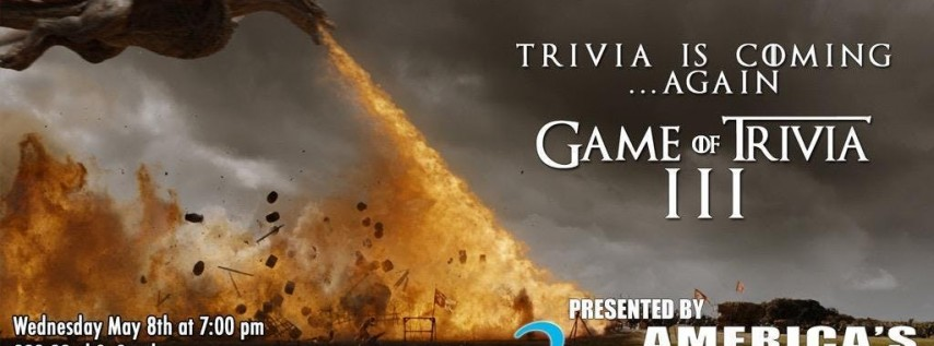 3 Daughters Brewing Presents: Game of Thrones Trivia, Round 3!