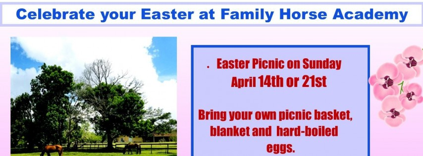 Easter picnic at Family Horse Academy