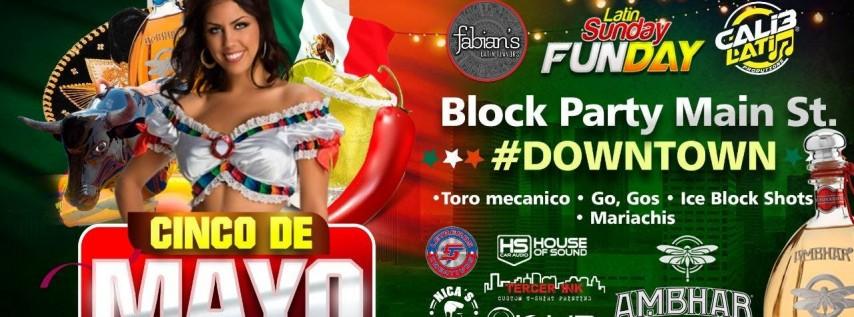 Cinco de Mayo Block Party Main St #downtown