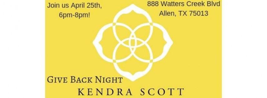 Kendra Gives Back Night