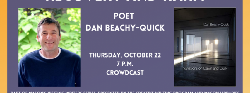 Fall for the Book presents Recovery and Harm with Poet Dan Beachy-Quick
