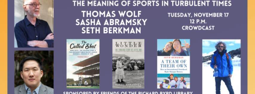 Fall for the Book presents More Than A Game: The Meaning of Sports in Turbulent