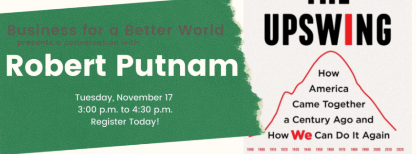 Fall for the Book presents A Conversation with Robert Putnam